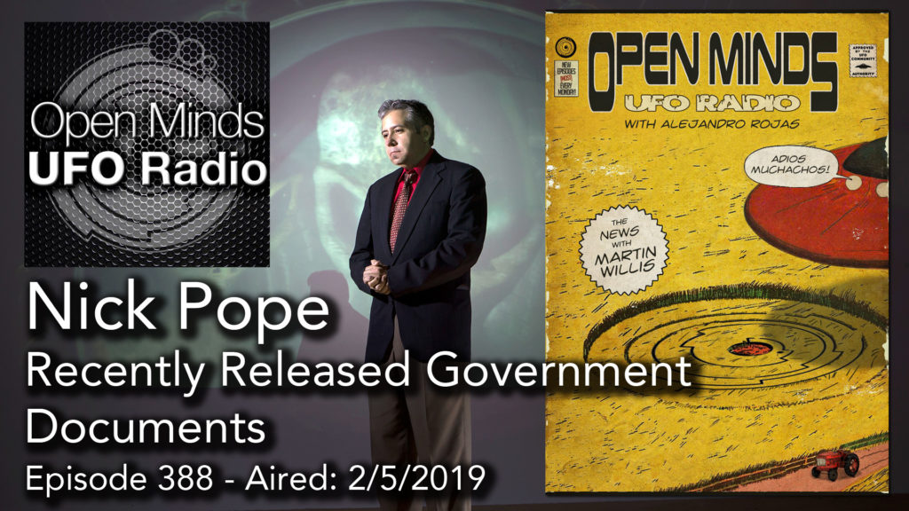Nick Pope Discusses Newly Released Government Documents on Open Minds UFO Radio